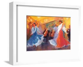 La Celebracion del Baile-Sharon Carson-Framed Art Print