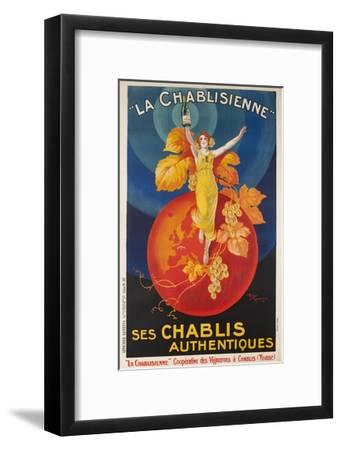 La Chablisienne, Ses Chablis Authentiques, French Wine Poster--Framed Giclee Print