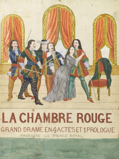 La chambre rouge, grand drame en 4 actes et 1 prologue, prologue le price royal--Giclee Print