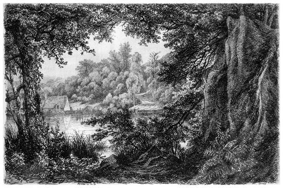 La Chaumiere, C1825-1885-Eugene Blery-Giclee Print