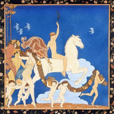 La Cheval Blanc, C.1917-1920-Georges Barbier-Giclee Print