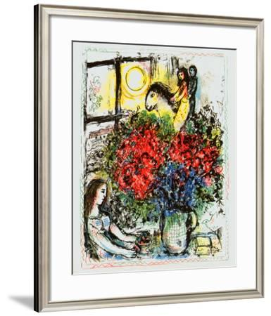 La Chevauchee-Marc Chagall-Framed Art Print