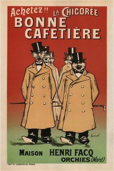 La Chicoree Bonne Cafetiere-Fernand Fernel-Art Print