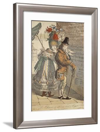 La Chinoise De Province Et Son Magot, Ou Le Bon Gout Transplante', 1813-Adrien Victor Auger-Framed Giclee Print
