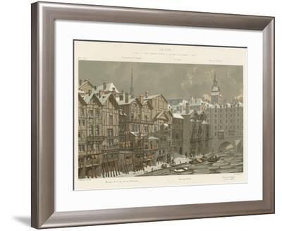 La Cite, Entre Le Pont Notre-Dame Et Le Pont Au Change, 1650--Framed Giclee Print