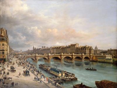 La Cité et le Pont-Neuf vus du quai du Louvre-Giuseppe Canella-Giclee Print