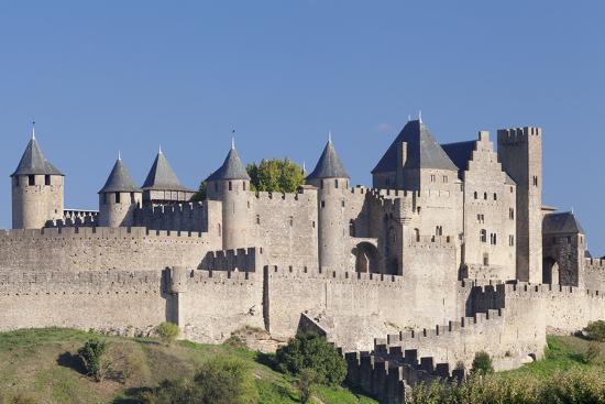 La Cite, Medieval Fortress City, Carcassonne, Languedoc-Roussillon, France-Markus Lange-Photographic Print