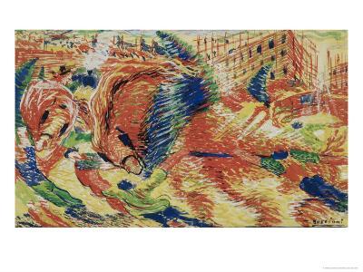 La Citta Che Sale-Umberto Boccioni-Giclee Print