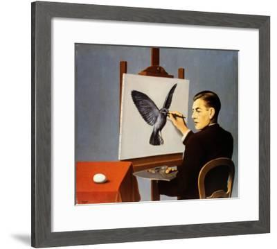 La Clairvoyance-Rene Magritte-Framed Art Print