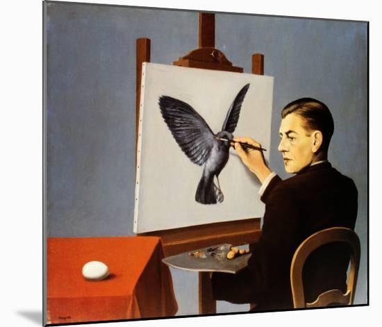La Clairvoyance-Rene Magritte-Mounted Art Print