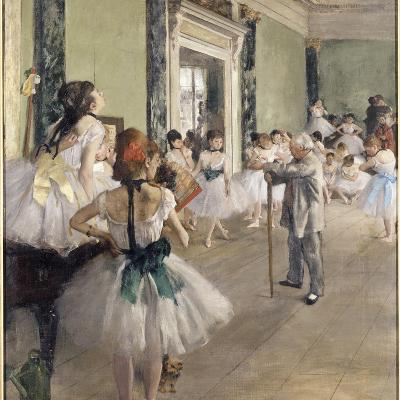 La classe de danse-Edgar Degas-Giclee Print