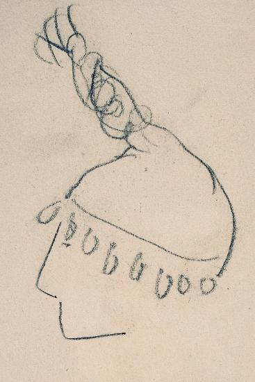 La Clownesse, Sketch of Jane Avril-Henri de Toulouse-Lautrec-Giclee Print