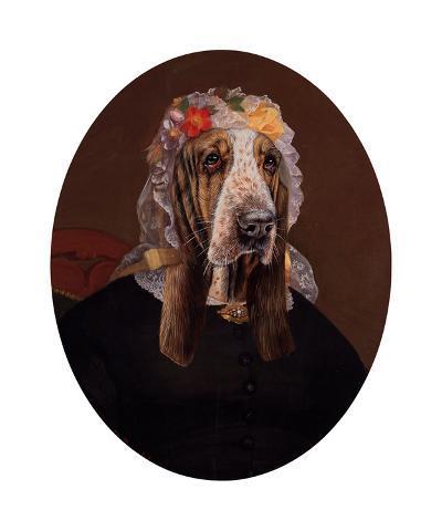 La Comtesse aux fleurs-Thierry Poncelet-Premium Giclee Print