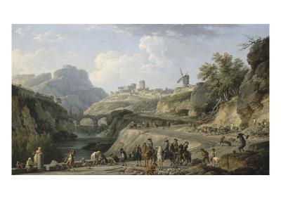 La construction d'un grand chemin-Claude Joseph Vernet-Giclee Print