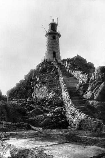 La Corbiere Lighthouse-B. M. Chambers-Photographic Print