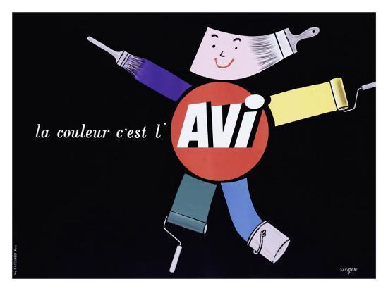 La Couleur c'est l'AVI-Raymond Savignac-Giclee Print