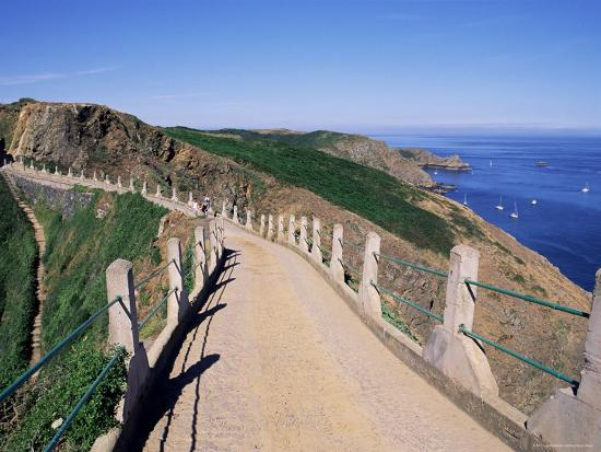 La Coupee and Dixcart Bay, Sark, Channel Islands, United Kingdom-J Lightfoot-Photographic Print