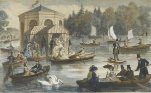 La cour à Fontainebleau. La pièce d'eau