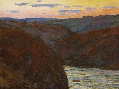 La Creuse, Sunset-Claude Monet-Giclee Print