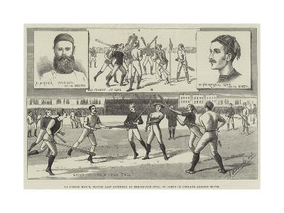 La Crosse Match, Played Last Saturday at Kennington Oval, by North of England Against South--Giclee Print