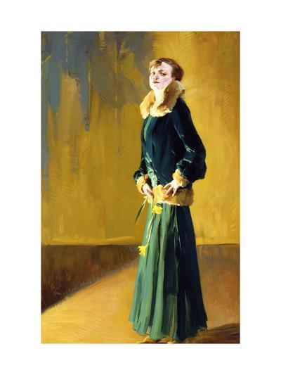 La Dama in Verde-Virgilio Constantini-Giclee Print