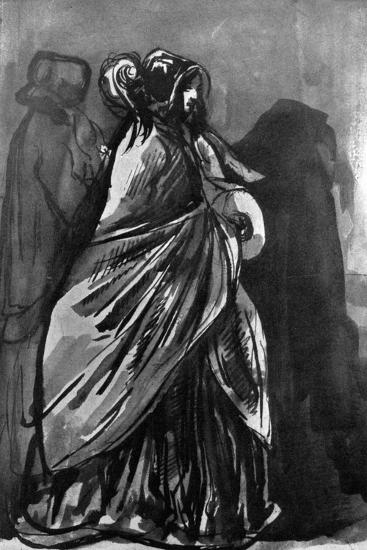 La Dame Au Chale, 19th Century-Constantin Guys-Giclee Print