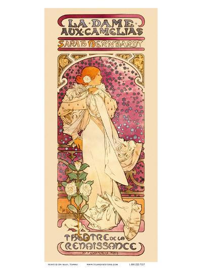La Dame aux Came?lias Art Nouveau, La Belle Époque-Alphonse Mucha-Art Print