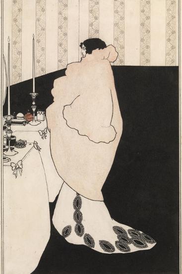 La Dame Aux Camelias-Aubrey Beardsley-Giclee Print