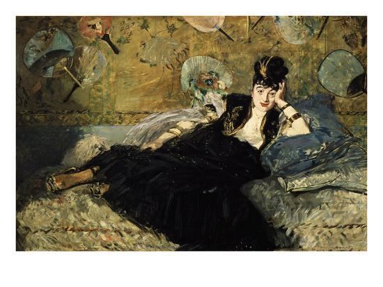 La Dame Aux Eventails, Lady with Fans, 1873-Edouard Manet-Giclee Print