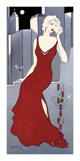 La Dame en Rouge-Janet Kruskamp-Art Print