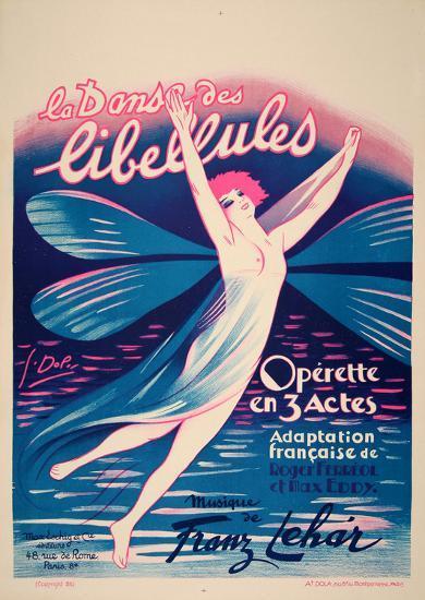 La Danse des Libellules (c.1926)-Georges Dola-Collectable Print