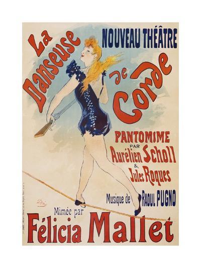 La Danseuse De Corde-Jules Ch?ret-Giclee Print