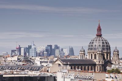 La Defense Rising Above the Rooftops of Paris, France, Europe-Julian Elliott-Photographic Print