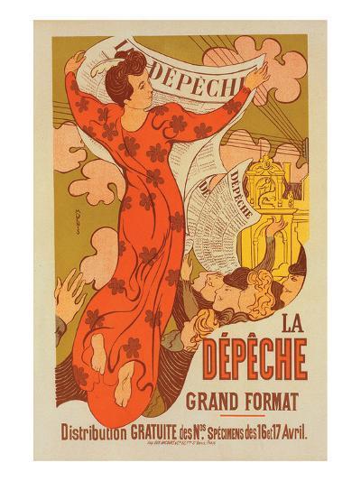 La Dépêche Grand Format-M. Denis-Art Print