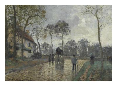 La diligence à Louveciennes (Yvelines)-Camille Pissarro-Giclee Print