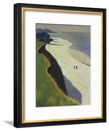 La Falaise De La Greve Blanche, 1913-Felix Vallotton-Framed Premium Giclee Print