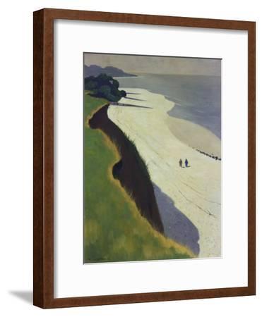 La Falaise De La Greve Blanche, 1913-Felix Vallotton-Framed Giclee Print