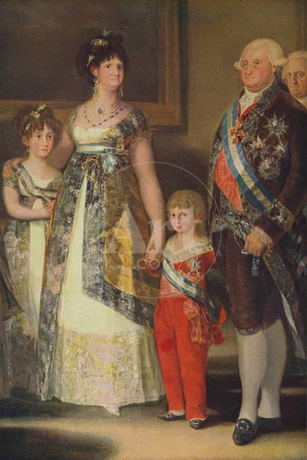La Familia De Carlos Iv Grupo Central The Family Of Charles Iv 1800 C1934 Giclee Print By Francisco Goya Art Com