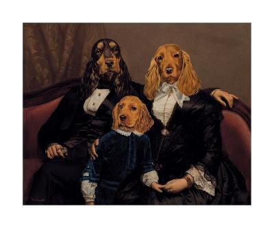 La Famille Content-Thierry Poncelet-Premium Giclee Print