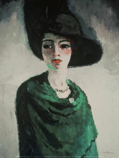 La Femme au Chapeau Noir-Kees van Dongen-Art Print