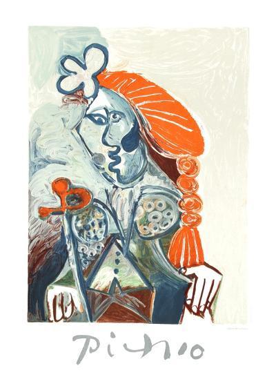 La Femme avec le BŽret Rouge-Pablo Picasso-Collectable Print