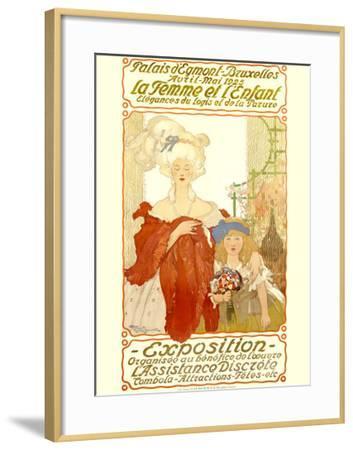 La Femme et l'Enfant Expo-Fernand Toussaint-Framed Giclee Print