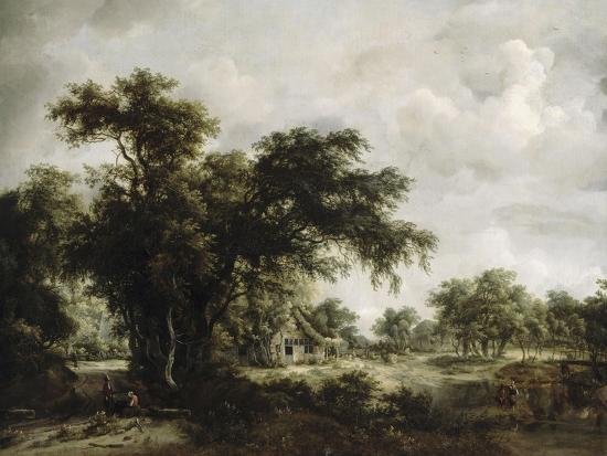 La ferme-Meindert Hobbema-Giclee Print
