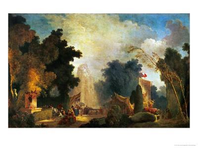 La Fete a St. Cloud, a Celebration in St. Cloud-Jean-Honor? Fragonard-Giclee Print