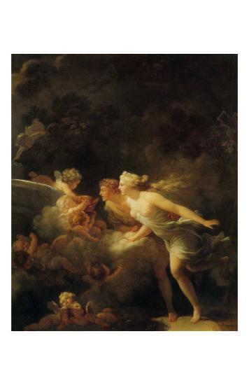 La Fontaine d'Amour-Jean-Honor? Fragonard-Art Print