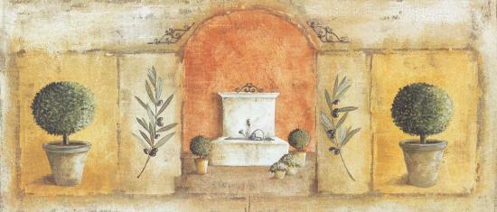 La Fontaine Rouge-V?ronique Didier-Laurent-Art Print