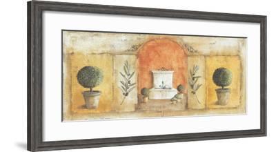 La Fontaine Rouge-Véronique Didier-Laurent-Framed Art Print