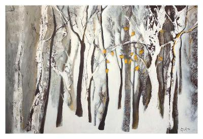La forêt blanche-Kathleen Cloutier-Art Print