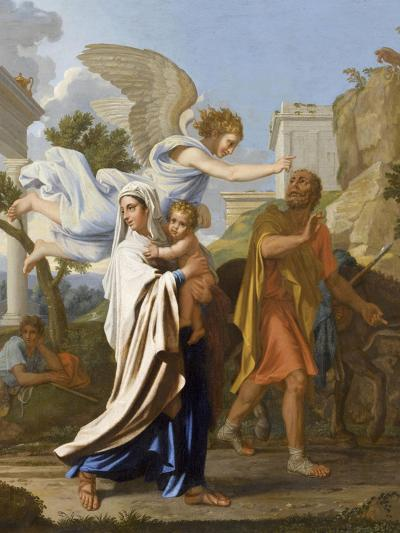 La fuite en Egypte-Nicolas Poussin-Giclee Print