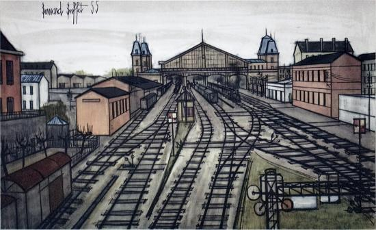 La Gare Art Print by Bernard Buffet | Art.com